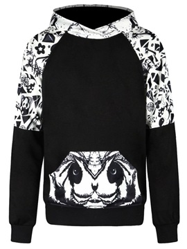 Snakes Black White Long Sleeve 3D Pattern Men's Hoodie
