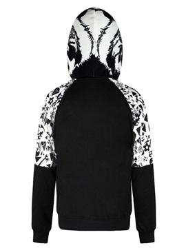 Snakes Black White Long Sleeve 3D Pattern Men's Hoodie