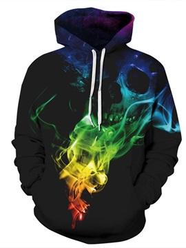 Special Long Sleeve Colorful Fog Pattern 3D Painted Hoodie