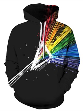 3D Abstract Graphics Colorful Pattern Men Sweater Long Sleeve Cool Hoodies