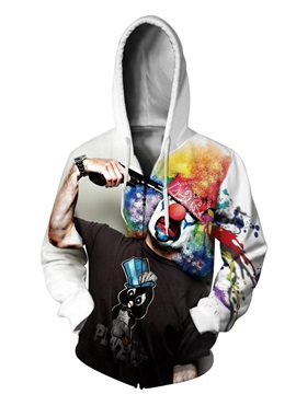 Soft Long Sleeve Clown Suicide Pattern 3D Painted Hoodie