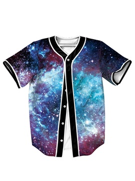 Fantastic Galaxy Pattern For Man Short Sleeve Shirt