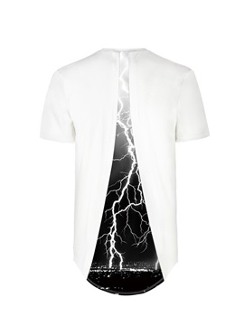Lightning Over the City Pattern Back Of Clothe 3D Painted T-Shirt