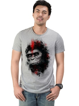 King Kong Summer Casual Men's Cotton Funny T-Shirts Round Neck Top Tee Gift 3D Painted T-Shirt