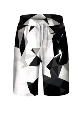 Color Block Pattern Loose Model Spring Summer Season Polyester Material Beach Shorts