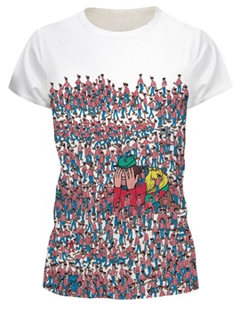 Cartoon Pattern Summer Round Neck Polyester Material 3D T-shirt