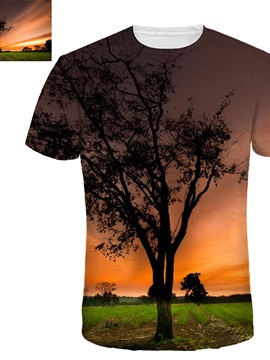 Personalized Unisex Short Sleeve Realistic Graphic 3D Painted T-shirt