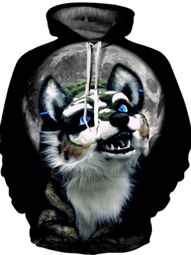 Lightweight Fastness Pullover Loose Model Realistic 3D Painted Hoodie