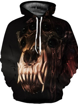 Cool Design Pullover Kangaroo Pocket Lightweight 3D Painted Hoodie