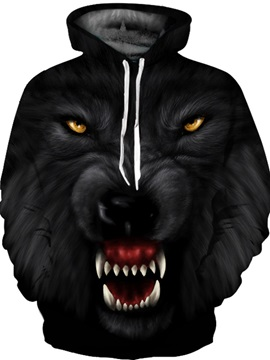 Unisex Pullover Loose Model Polyester 3D Painted Hoodie