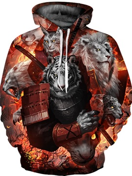 Unisex Pullover Vivid Color Cool Design 3D Painted Hoodie
