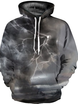 Clear Print Bright Color Loose Model Lightweight Pullover 3D Painted Hoodie