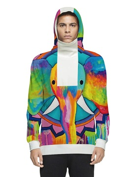 Unisex Pullover Cool Design Vivid Color 3D Painted Hoodie