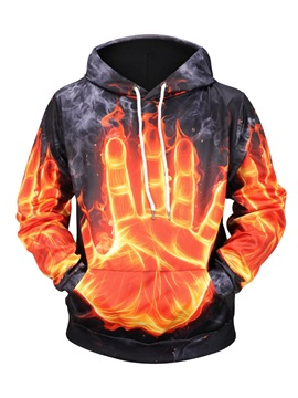 Lightweight Cool Design Digital Clear Print Pullover 3D Painted Hoodie