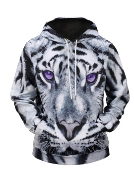Loose Model Athletic Cool Design Casual Style 3D Painted Hoodie