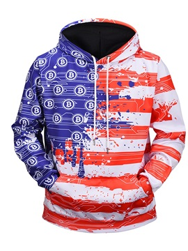 Pullover Kangaroo Pocket Vivid Color Cool Design 3D Painted Hoodie
