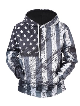 Clear Print Loose Model Casual Style 3D Painted Hoodie