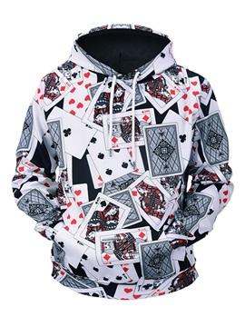 Poker Pattern Cool Design Vivid Color Kangaroo Pocket 3D Painted Hoodie