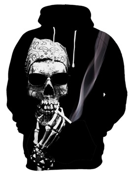 Skull Unisex Graphic Pattern Halloween Polyester Pullover 3D Painted Hoodie