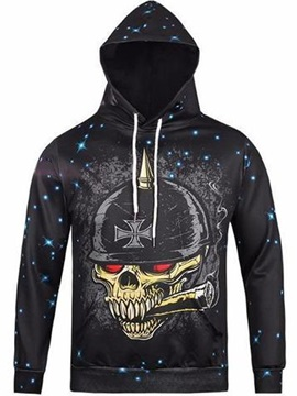 Halloween Casual Style Lightweight Pullover 3D Painted Hoodie