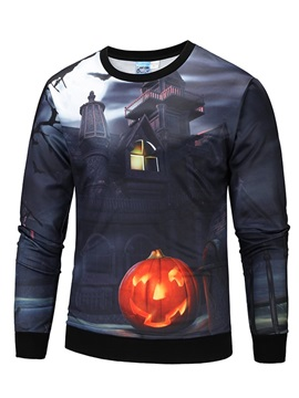 Funny Design Lightweight Halloween Pullover 3D Painted Hoodie
