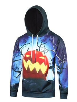 Lightweight Halloween Polyester Realistic Clear Print 3D Painted Hoodie