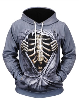 Casual Style Halloween Gift Loose Model Vivid Color 3D Painted Hoodie