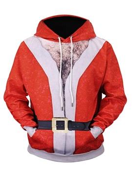 Christmas Loose Model Polyester Fastness Kangaroo Pocket 3D Painted Hoodie