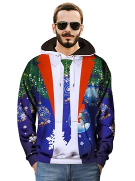 Loose Model Workout Pullover Vibrant Color 3D Painted Hoodie