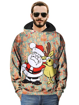 Pullover Loose Model Fastness Polyester Lightweight 3D Painted Hoodie