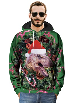 Cool Design Fastness Kangaroo Pocket Casual Style 3D Painted Hoodie