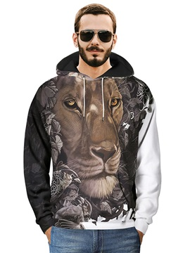 Vibrant Color Loose Model Pullover Long Sleeve 3D Painted Hoodie