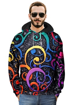 Cool Design Vivid Color Loose Model Pullover Polyester 3D Painted Hoodie