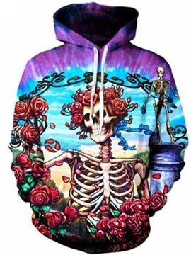 Halloween Loose Model Bright Color Cool Design 3D Painted Hoodie