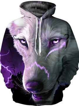 Cool Design Workout Kangaroo Pocket Lightweight Pullover 3D Painted Hoodie