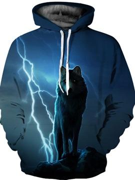 Cool Design Unisex Athletic Pullover Kangaroo Pocket 3D Painted Hoodie