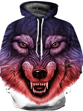 Animal Pullover Lightweight Workout Realistic 3D Painted Hoodie