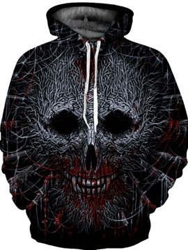 Cool Pattern Unisex Pullover Vibrant Color 3D Painted Hoodie