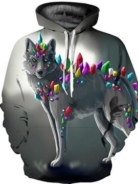 Pullover Loose Model Kangaroo Pocket Unisex 3D Painted Hoodie