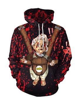 Long Sleeve Loose Model 3D Baby Painted Hoodie