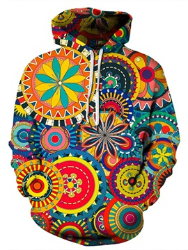 Cool Design Bright Color Clear Print Realistic Pullover 3D Painted Hoodie