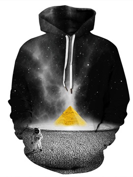 Creative Pattern Lightweight Polyester Unisex 3D Painted Hoodie