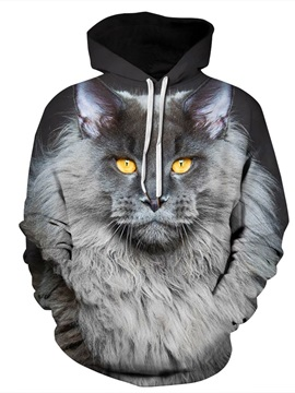 Funny Design Lightweight Vibrant Color Athletic 3D Painted Hoodie