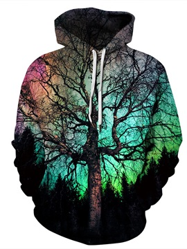 Cool Design Vivid Color Pullover Casual Style 3D Painted Hoodie