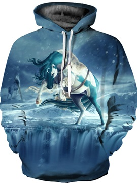 Cool Design Loose Model Lightweight Vibrant Color 3D Painted Hoodie