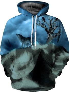 Unisex Athletic Pullover Kangaroo Pocket Loose Model 3D Painted Hoodie
