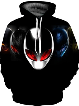 Lightweigth Vibrant Color Loose Model Casual Style 3D Painted Hoodie