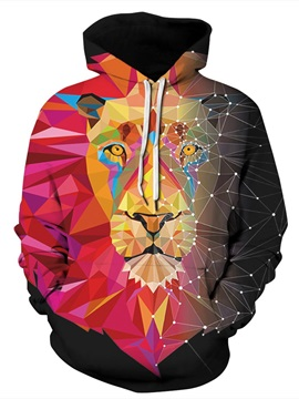 Cool Design Bright Color Clear Design Pullover 3D Painted Hoodie