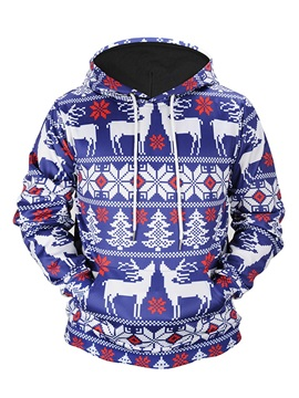 Christmas Loose Model Polyester Clear Print 3D Painted Hoodie