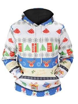 Loose Model Casual Style Polyester Unisex Pullover 3D Painted Hoodie